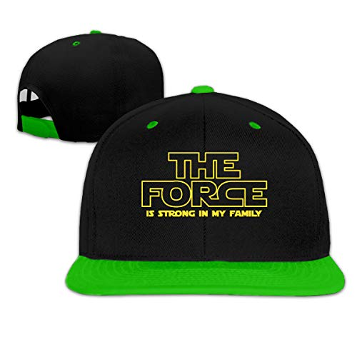 Puyiyua Rock Punk Baseball Cap The Force is Strong in My Family Unisex Trucker Hat Hip-hop Snapback Green