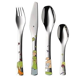 WMF El Principito - Cubertería para niños 4 piezas (tenedor, cuchillo de mesa, cuchara y cuchara pequeña) (WMF Kids infantil): Amazon.es: Hogar