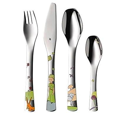 WMF El Principito - Cubertería para niños 4 piezas (tenedor, cuchillo de mesa,