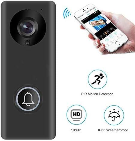 ワイヤレスチャイム 1080HDリアルタイムビデオ会話機能 ナイトビジョン PIR動き検出 Wi-Fi対応 携帯コントロール可能 150度広角レンズ 介護 来客 呼び出し 防盗用