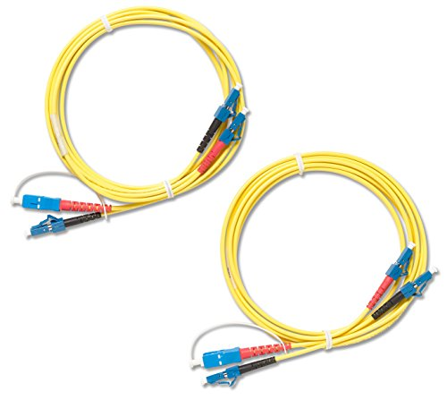 Fluke Networks NFK3-DPLX-LC Duplex Singlemode Test Reference Cords for LC Adapter, 9 µm, 2 m Cable Length, -