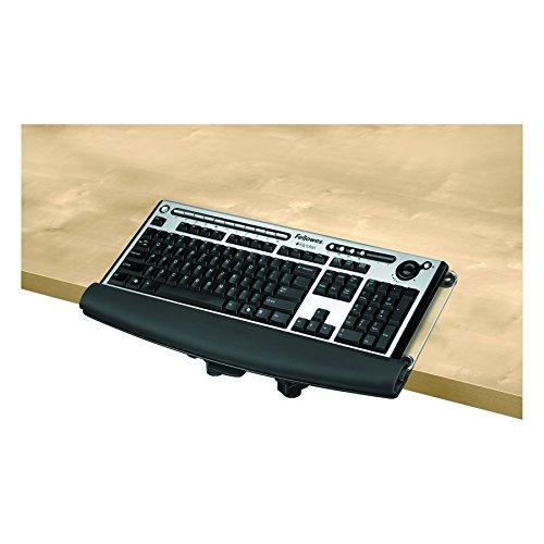 Fellowes Serie I-Spire - Bandeja para teclado (incluye herramientas), Negro