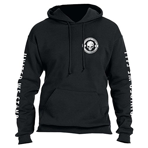 Divided We Fall Military Sniper Skull Hoodie X-Large Black