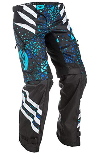 Fly Racing Kinetic Womens Overboot Pants Blue/Black (Black, - Overboot Kinetic