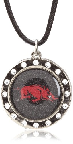 NCAA Arkansas Razorbacks Crystal Circle Necklace