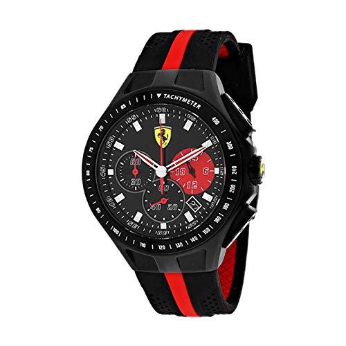 (Ferrari Men's 0830023 Race Day Analog Display Quartz Black Watch)