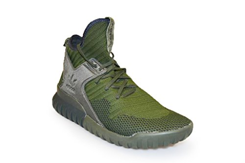 adidas Tubular X Pk, Zapatillas de Gimnasia para Hombre, Negro, 37 EU green black S76713