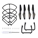 SNAPTAIN Spare Parts Kits for SP650 Drone, with Propellers, Landing Gears, Propeller Guards, Screwdriver, Screws