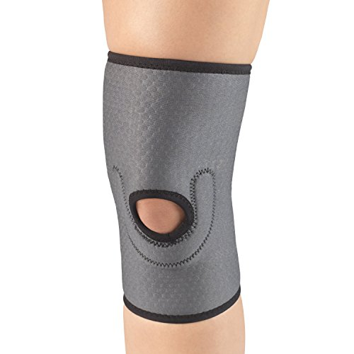 Champion Knee Brace, Patella Stabilizer Pad, Lightweigth Support, Airmesh Fabric, Grey, Large -