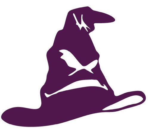 Sorting Hat - Harry Potter Decal Sticker - Size:8.0 x 9.7 inches - Color:Purple