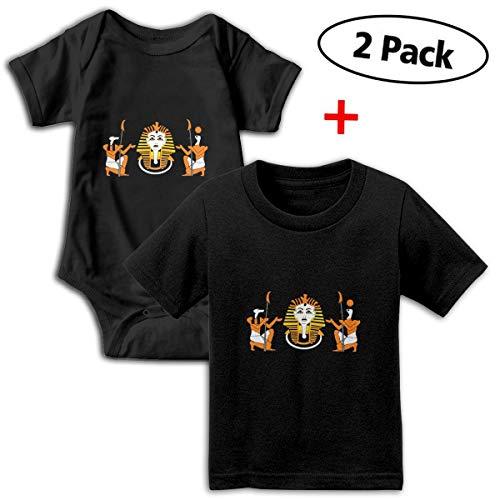 Gods Tile Will (Tiles Egyptian Gods Baby Set of Short-Sleeve Bodysuits & Baby T-Shirt)