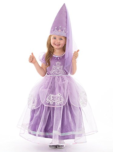 [Little Adventures Deluxe Amulet Princess Dress Up Costume for Girls - Small (1-3 Yrs)] (Sofia The First Dress Up Costume)