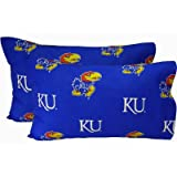College Covers Kansas Jayhawks Pair of Solid Pillowcase, King