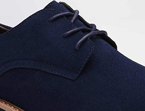 Men Suede Leather Urban Shoes Lace Up Classic Business Brogue Casual Shoes