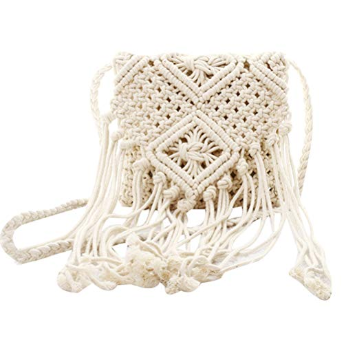 Donalworld Women Tassel Shoulder Bag Bohemian Beach Crochet Messenger Bags Bge