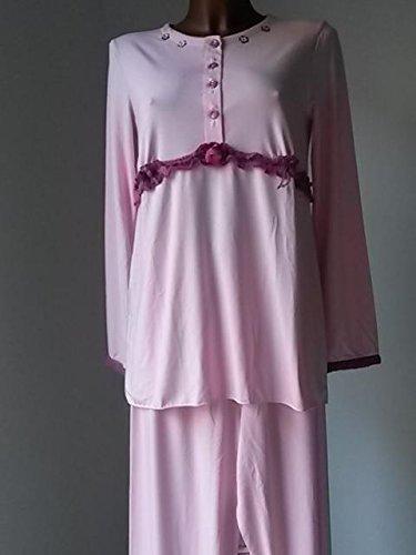 100% autentico 6aa89 caf17 Pigiama donna 19407 maniche lunghe rosa DOLCI CHICCHE TG.46 ...