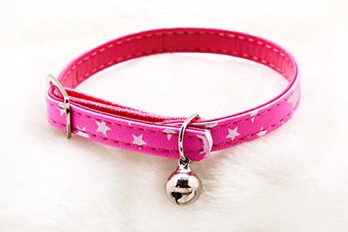 BPS® Collar Ajustable con Decoración Campanita para Gato Gata (Rosa)
