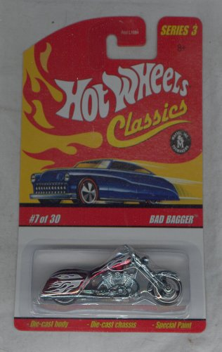 (Hot Wheels 2006-7 of 30 Red BAD BAGGER Classics Series 3 1:64 Scale)