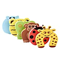 RuiChy Baby safety Foam Door Stoppers Animal Designs