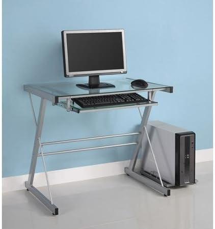 Solo, Cristal mesa para ordenador bandeja de teclado ...