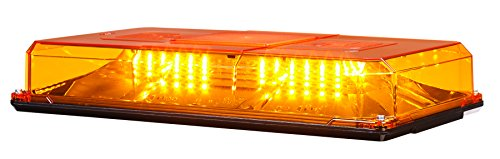 (Federal Signal 454200HL-02 HighLighter LED Plus Amber Dome Class 1 Mini Lightbar (Suction-Cup Magnet Mount))