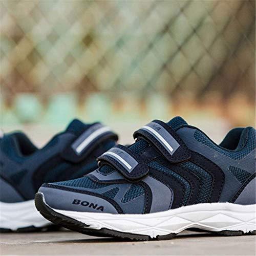 Zhrui Taille Mesh 2 Argent Enfants Respirant Uk Mode Couleur air Running Bleu Unisexe Gymnastique Plein Sport Casual Chaussures r01x0nWZ6