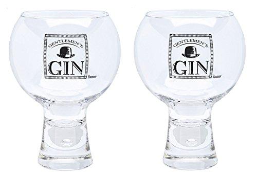 - Durobor Alternato Bubble Base Set of 2 Gentlemans Gin Glasses Glass 19 floz