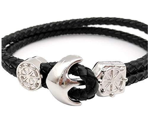 Laliva 3 Sets 10mmx6mm Hole Antique Bronze Anchor End Bar Clasps,Licorice Bracelet Closure - (Color: - Mm Anchor Bracelet 6