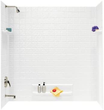Transolid EWK603272-41 Expressions 3-Panel Shower Wall Kit, 32-in L x 60-in W x 72-in H, Bianca