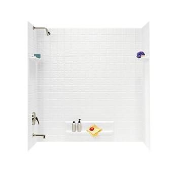 Swanstone TI 5 010 Veritek Five Panel Tub Wall Kit, White Finish