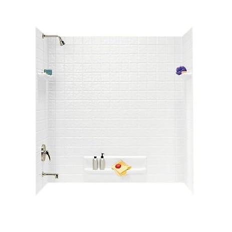 Swanstone TI-5-010 Veritek Five Panel Tub Wall Kit, White Finish ...