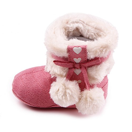 Smile YKK Baby Mädchen Winter Herbst krabbelschuhe krippeschuhe Lauflernschuhe 14 Rosa Rosa