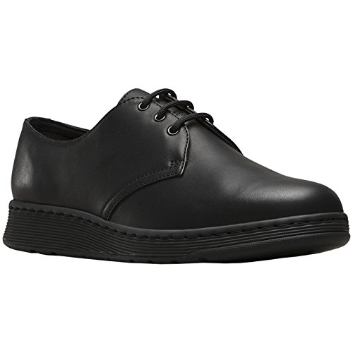 - Dr.Martens Womens Cavendish 3-Eyelet Black Leather Shoes 40 EU
