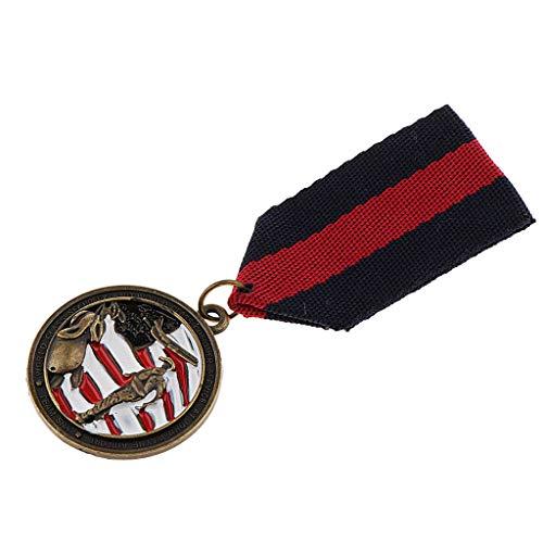 Black Pin Pendant - 1pc Black Red Fabric Striped Pendant Medal Uniform Collar Lapel Pin Badge Decor AF4R
