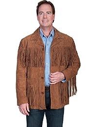 Men's Suede Fringe Jacket - 86-81