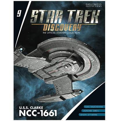 Clarke NCC-1661 Ship Replica Star Trek Discovery The Official Starships Collection #9 U.S.S
