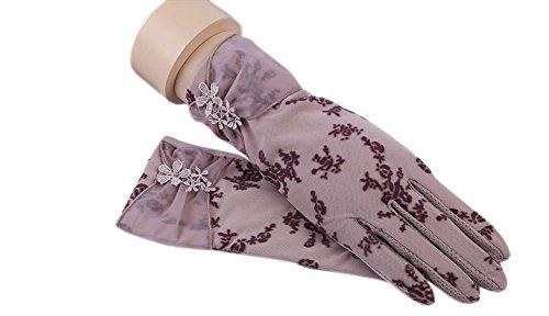 formanism エレガント 大人上品 ガーリー シックカラー 紫外線防止 UV サマー手袋 レディース (D)