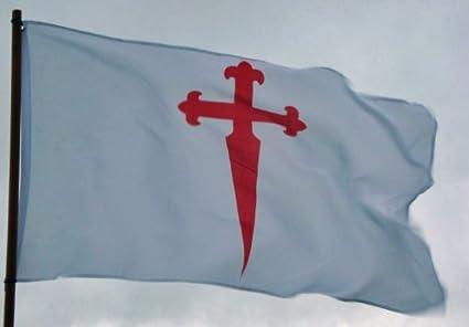 Amazon.com: Bandera de la Cruz de Santiago de Compostela ...