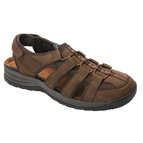 Drew Men's Hamilton Fisherman Sandal,Brown Nubuck,US 11 6E by Drew Shoe