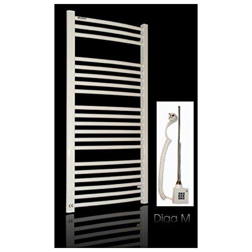Anapont - Calefactor de baño (1734 x 600 cm, potencia: 1129 W), color blanco Calefactor KTX-2-1000 (1000 W) con montaje fácil.