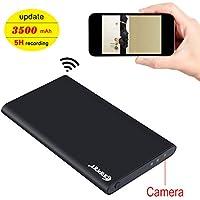 Wireless Spy Hidden Camera, corprit 1080P WiFi Home Security Camera 3500mAh Power Bank Nanny Cam (16GB Micro SD Card Included)