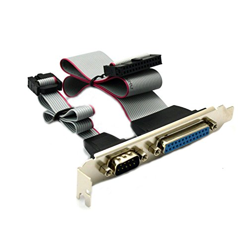 Cable 25p (VONOTO Motherboard Parallel LPT 25p Printer DB9 9pin RS232 com Port Cable slot bracket)