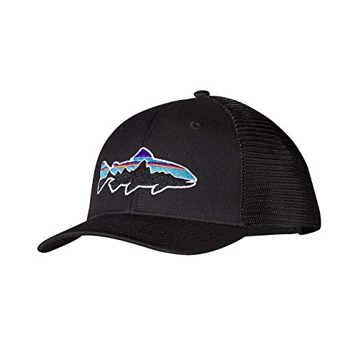 Patagonia Fitz Roy Trout Trucker Hat (Black)