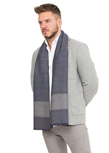 Limited Edition VT Travel Scarf in Diamond and Herringbone Weave
