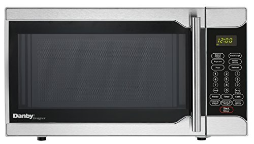 Danby DMW07A2BSSDD 0.7 Cu Ft Countertop Microwave, Black with Stainless Steel Door