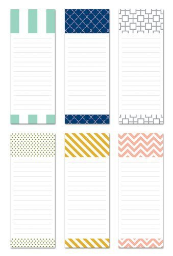 (6 Magnetic Notepads for 9.95 - Modern Design Series - 6 Different Designs on 3.5