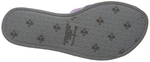 Dearfoams Slide - Pantuflas Mujer Purple (Smokey Purple)