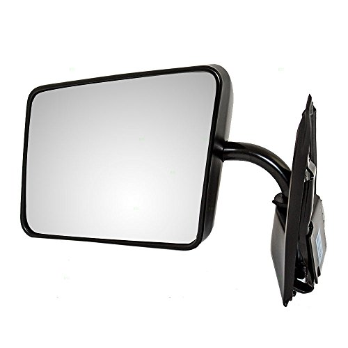 Drivers Manual Side View Mirror Below Eyeline Ready-to-Paint Replacement for Chevrolet GMC Pickup Truck SUV 15642571