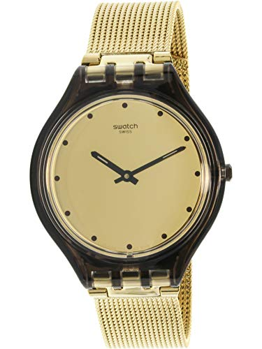 - Swatch Women's Analogue Quartz Watch with Stainless Steel Strap SVOC100M