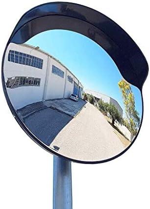 Geng カーブミラー 屋内盗難防止保護に適し黒の安全性プラスチックの広角レンズ、実用的なポータブルブラインドスポットミラー